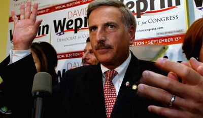 Democrat David Weprin thanks supporters early Wednesday after the results were in for the special congressional election held after Democrat Anthony D. Weiner resigned. Mr. Weprin lost to Republican Bob Turner. (Associated Press)