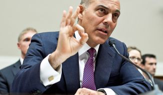 LENDER: Jonathan Silver, head of the Energy Department program that approved the $535 million deal for Solyndra in 2009, faced some of the toughest questioning Wednesday by a House investigations subcommittee. (T.J. Kirkpatrick/The Washington Times)