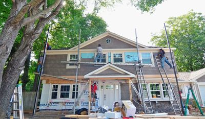Photo courtesy of Ply Gem For the exterior makeover, Case Design/Remodel used a package of materials provided by Ply Gem Industries, including windows, siding and stone veneer. The makeover also included weatherization products.