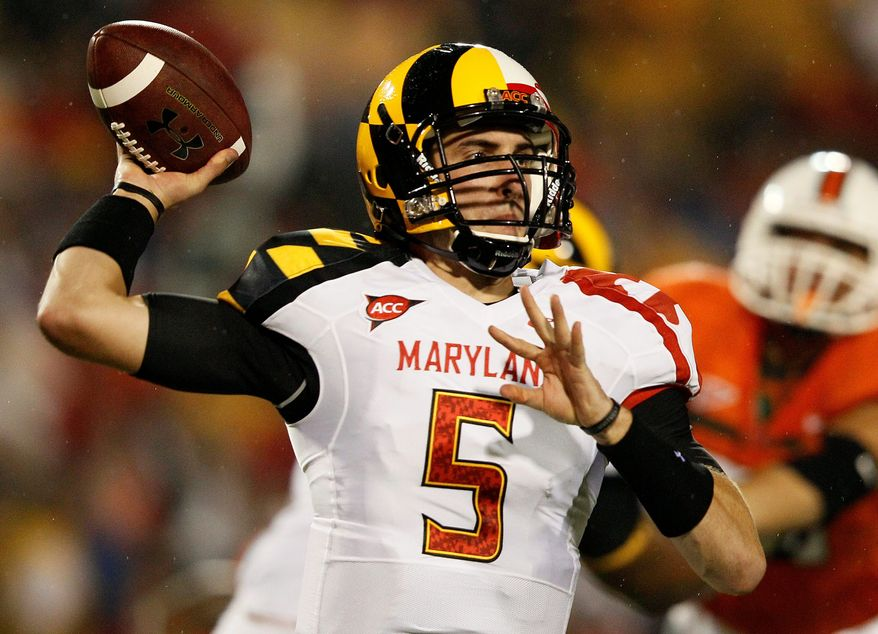 """Said Maryland quarterback Danny O'Brien said of the team's red-zone struggles. """"Most of those drives were really well-executed all the way down there, and then you get down there and you really have to capitalize."""" (Associated Press)"""