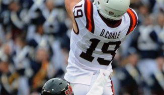 Virginia Tech's Danny Coale was drafted by the Dallas Cowboys in the fifth round Saturday. (AP Photo/Don Petersen)