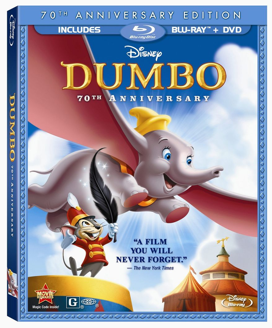 "DVD for ""Dumbo:70th Anniversary Edition"" released by Buena Vista/Disney Home Video. (Buena Vista/Disney Home Video)"
