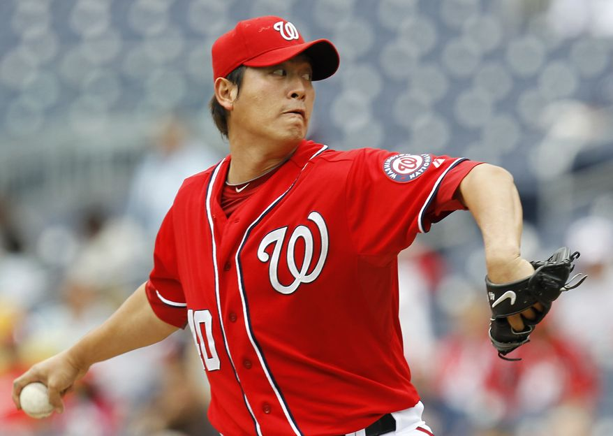 The Washington Nationals and starting pitcher Chien-Ming Wang appear to be on the verge of a new contract. (AP Photo/Luis M. Alvarez)