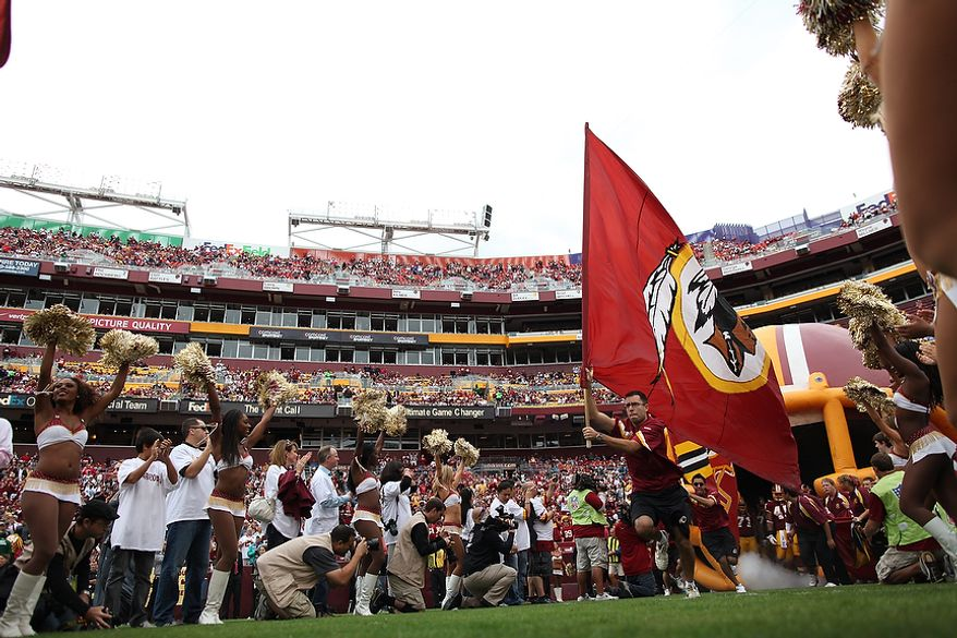 The Washington Redskins take the field to face the Arizona Cardinals at FedEx Field in Landover, Md., on Sunday, Sept. 18, 2011. (Pratik Shah/The Washington Times)