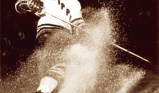 Defenseman Yvon Labre, a former Washington Capital, is shown during the 1969-70 season with the Baltimore Clippers. Despite the Capitals playing an exhibition game tonight at 1st Mariner Arena, it's unlikely minor league hockey will return to the city anytime soon. (American Hockey League)