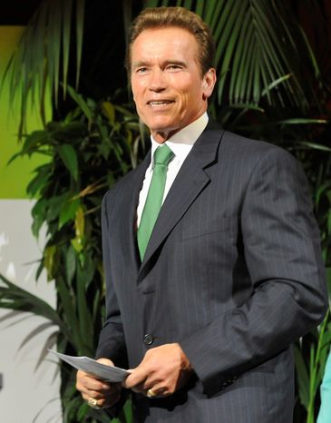 """Former California Gov. Arnold Schwarzenegger will address the U.N.'s """"Private Sector Forum 2011"""" at noon Tuesday. (Associa"""
