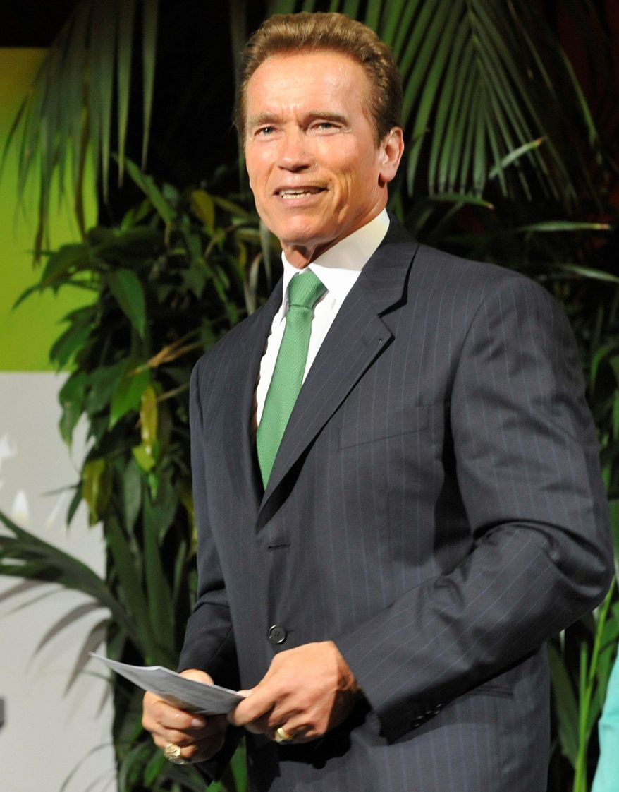 "Former California Gov. Arnold Schwarzenegger will address the U.N.'s ""Private Sector Forum 2011"" at noon Tuesday. (Associated Press)"