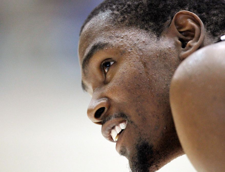 ASSOCIATED PRESS Oklahoma City's Kevin Durant was recognized for outstanding community service during a recent summer-league event.