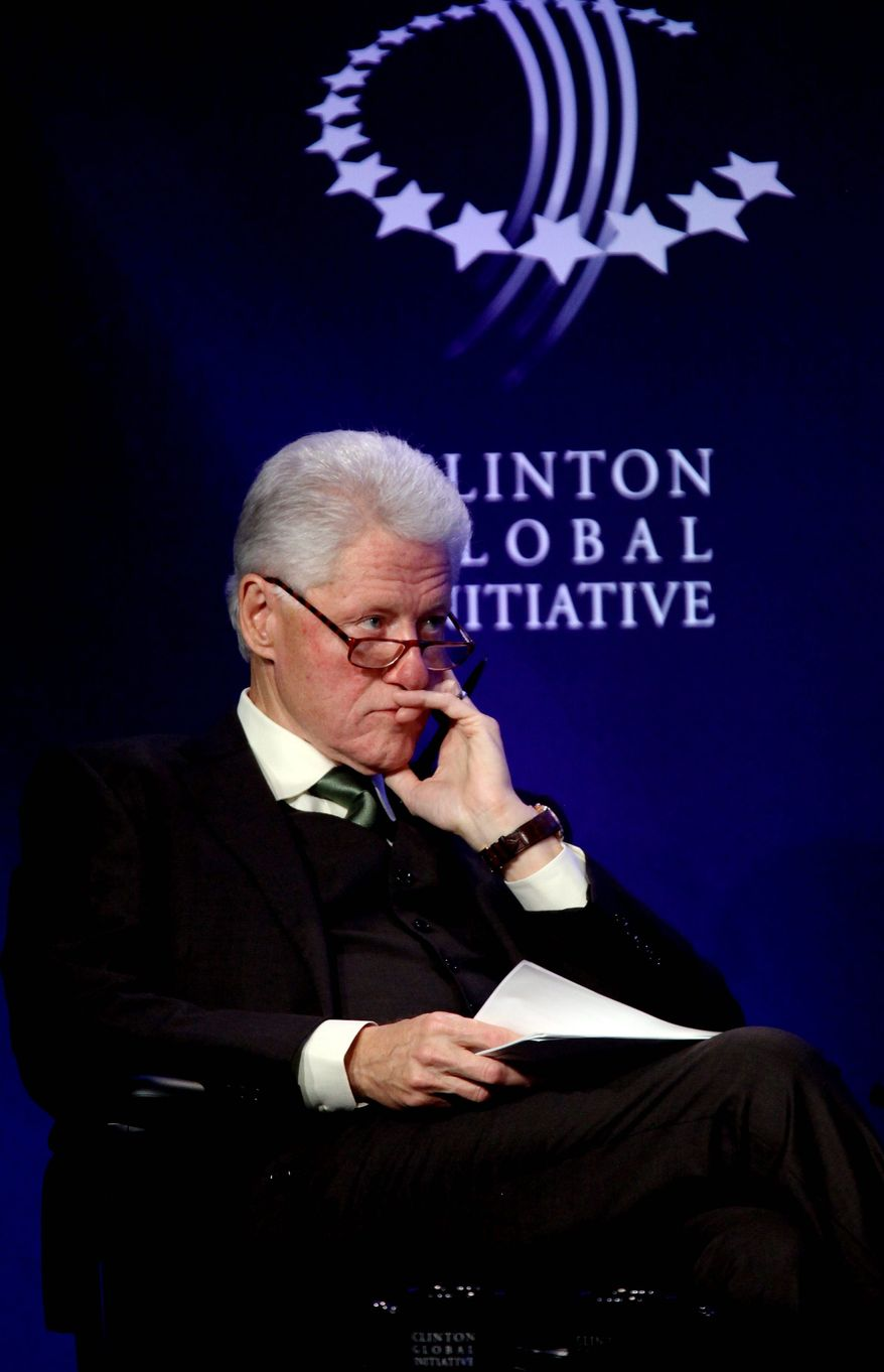 """Former President Bill Clinton turned down an offer to be on ABC's """"Dancing With the Stars,"""" saying he didn't have enough time to compete on the show. He did say, however, that he and his wife, Hillary, plan to do more dancing in the future. (Associated Press)"""