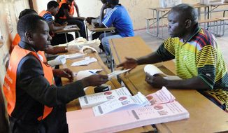 Zambians prepare to vote Tuesday in Lusaka. Ten candidates were on the presidential ballot, but only incumbent Rupiah Banda and Michael Sata are considered contenders. Zambia's voters also are choosing 150 members of parliament and more than 1,000 municipal councilors. (Associated Press)