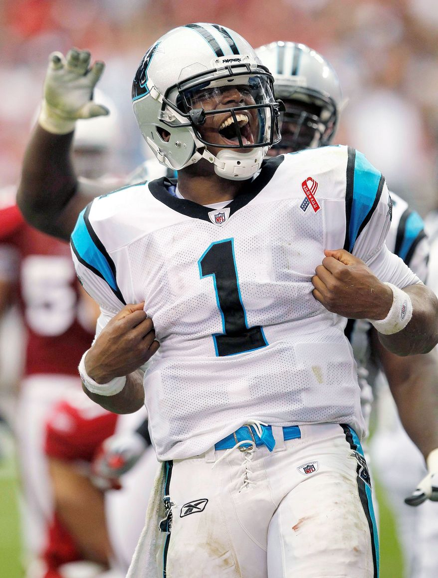 In the batttle between Cam Newton and a certain fantasy columnist, the Carolina QB is winning in a laugher. (Associated Press)