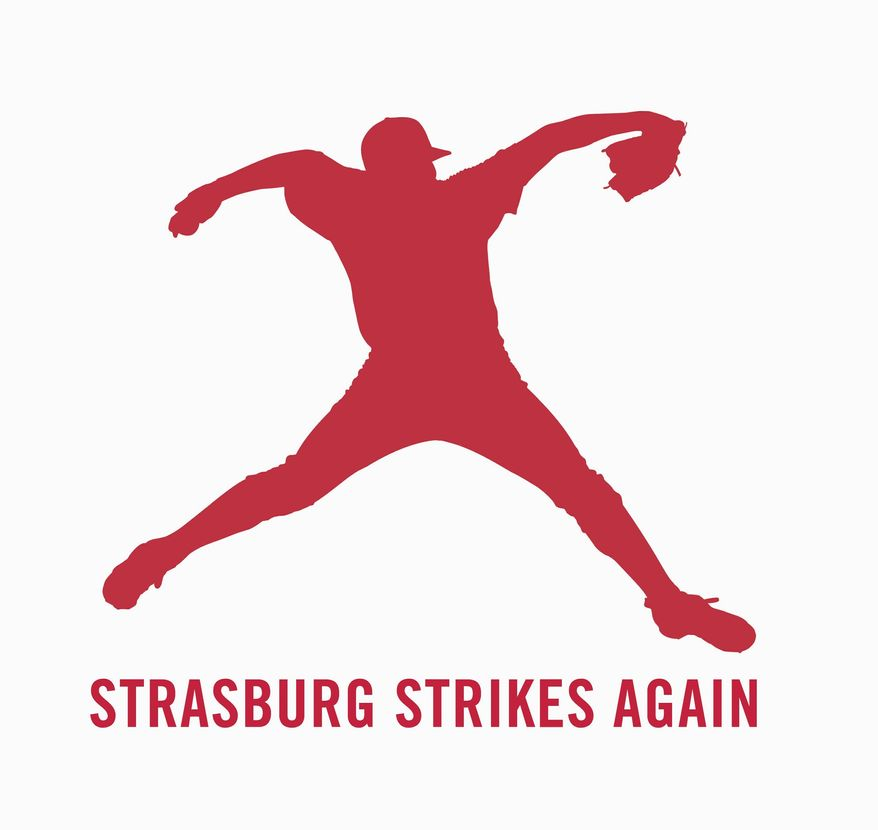A new logo for the Washington Nationals features Stephen Strasburg. (Provided by the Washington Nationals)