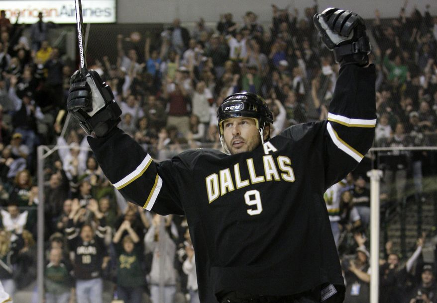 Dallas Stars' Mike Modano is retiring after 21 seasons in the NHL. Modano, in a phone interview Wednesday, Sept. 21, 2011, from Dallas, said he recently declined a chance to continue his career with the Vancouver Canucks. He will make the official announcement Friday. (AP Photo/Tony Gutierrez, File)