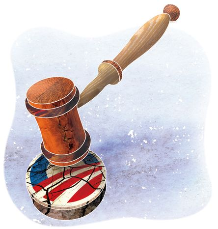 Illustration: Obama court by Greg Groesch for The Washington Times