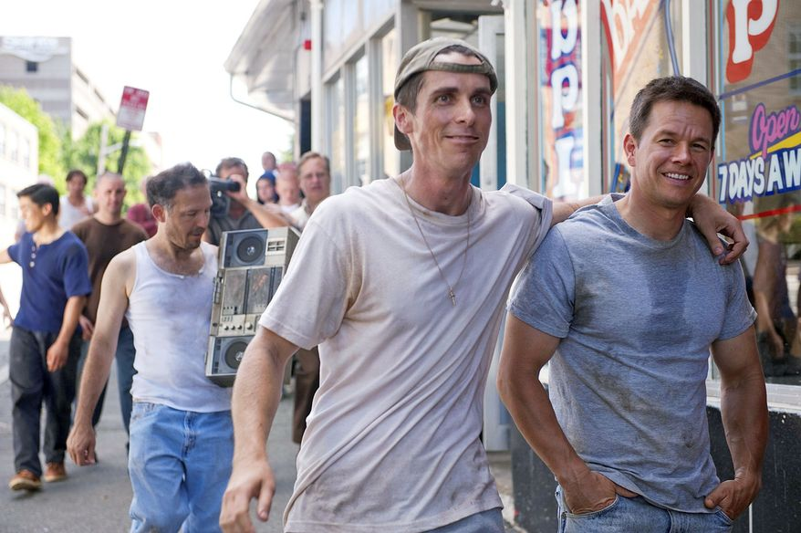 """Lower-budget box office winners include """"The Fighter"""" with Christian Bale (left) and Mark Wahlberg. (Associated Press/Paramount Pictures)"""