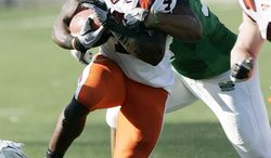 Virginia Tech running back David Wilson rushed for 132 yards and a touchdown in Tech's 30-10 win against Marshall on Saturday in Huntington, W.Va. (AP Photo/Randy Snyder)