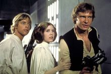 """Mark Hamill, Carrie Fisher and Harrison Ford in """"Star Wars"""" (Lucasfilm Ltd./Twentieth Century Fox Home Entertainment)"""