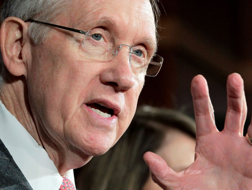 """""""I don't think there's anything more important for a jobs measure than China trade,"""" says Senate Majority Leader Harry Reid, Nevada Democrat. The Senate has adjourned for the rest of the week. (Associated Press)"""