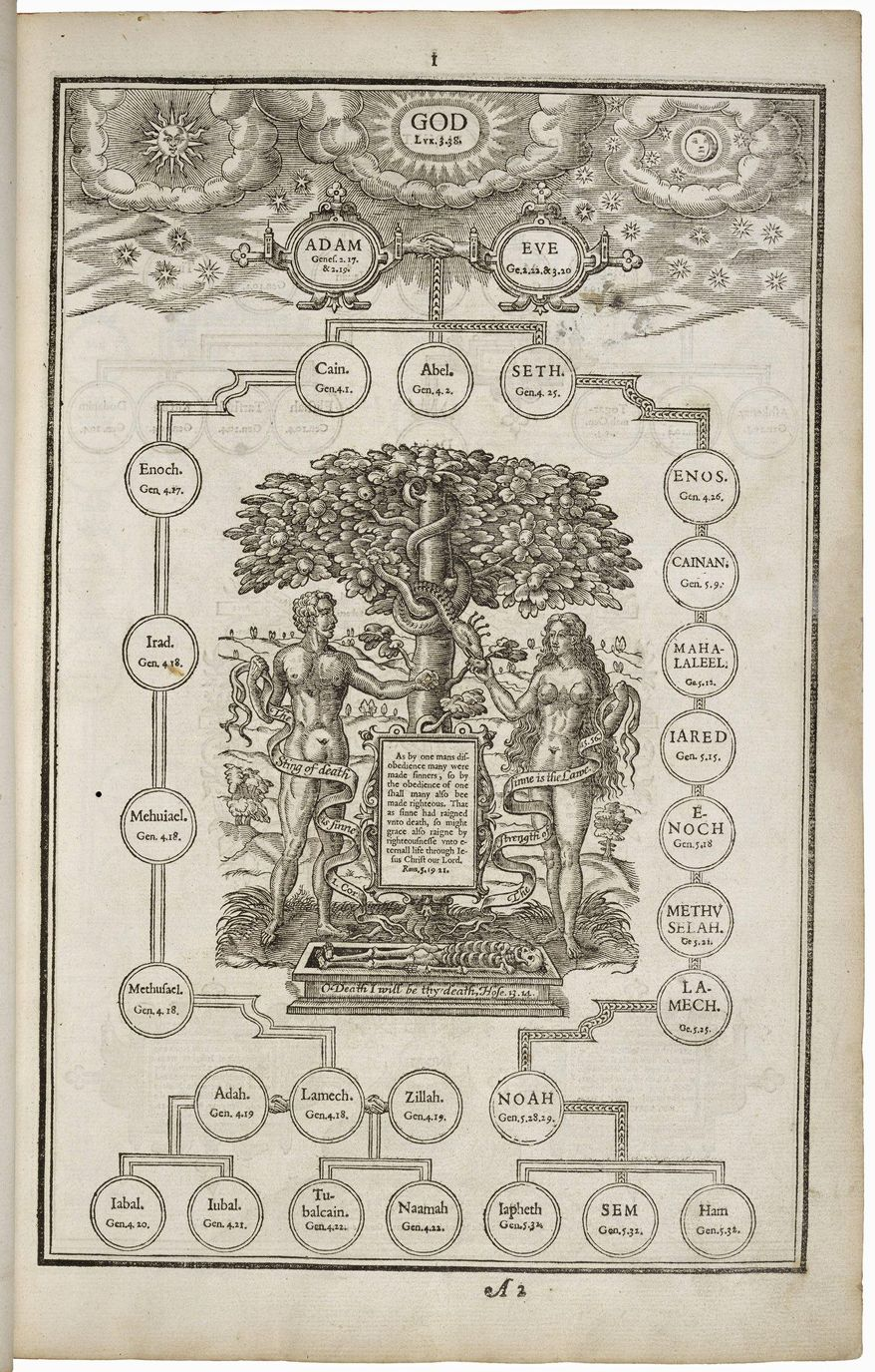 "The 1611 King James Bible is the subject of ""Manifold Greatness,"" a new exhibit at the Folger Shakespeare Library. Seen here are the Genealogies of the Scriptures. Translation began in 1604 at the order of England's King James I. (Folger Shakespeare Library)"