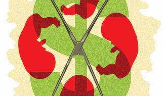 Illustration: Planned Parenthood by Alexander Hunter for The Washington Times