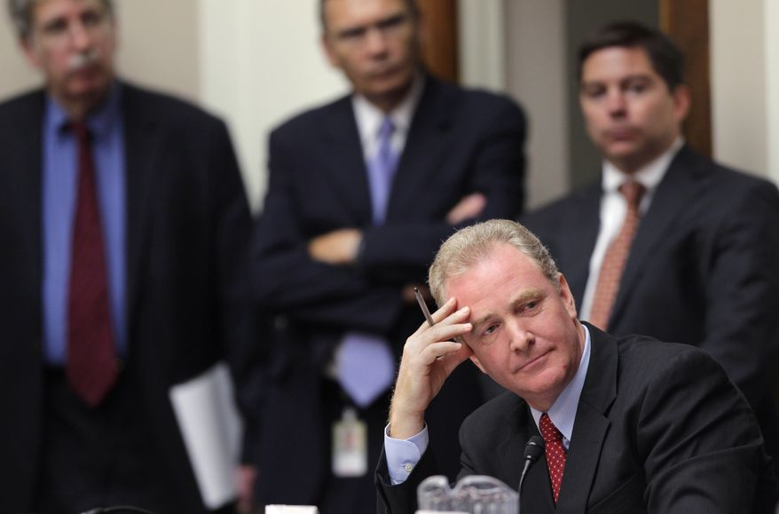 "**FILE** Rep. Chris Van Hollen of Maryland, the top Democrat on House Budget Committee, listens Sept. 8, 2011, as the Joint Select Committee on Deficit Reduction, often called the ""supercommittee,"" holds its first organizational meeting on Capitol Hill. (Associated Press)"