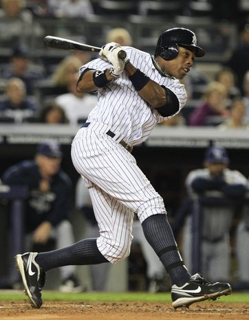 New York Yankees' Curtis Granderson has enjoyed a remarkable season, but is it enough to earn AL MVP honors? (AP Photo/Frank Franklin II)