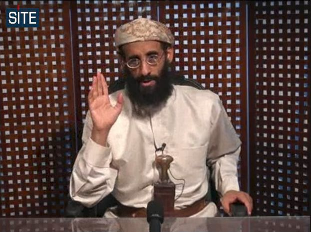 **FILE** In this image taken from video on Nov. 8, 2010, and released by SITE Intelligence Group, Anwar al-Awlaki speaks in a video message posted on radical websites. (Associated P