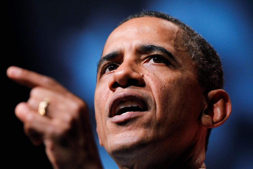 """President Obama delivers his remarks at the Congressional Black Caucus Foundation's awards dinner in Washington on Saturday. """"I expect all of you to march with me and press on,"""" Mr. Obama said. """"Take off your bedroom slippers, put on your marching shoes. Shake it off. Stop complaining, stop grumbling, stop crying."""" (Associated Press)"""