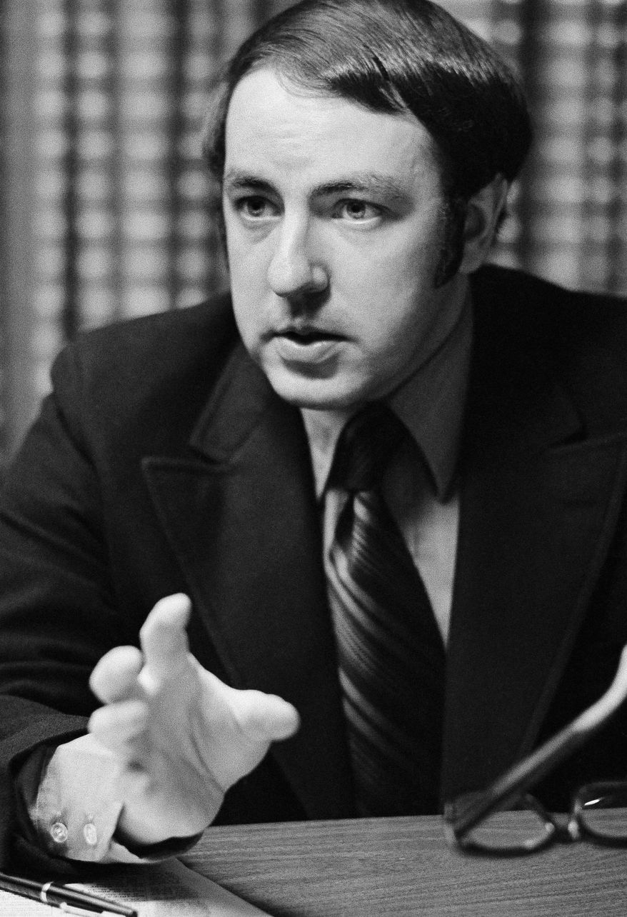 Roger Ailes, here in 1971, was a Republican media strategist, TV producer and then head of CNBC until 1996, the year he resigned to create the upstart Fox News Channel. (Associated Press)