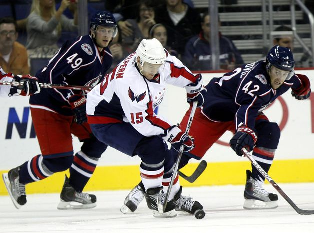 Center Jeff Halpern, who grew up in Potomac, is back with the Capitals for the first time since leaving Washington to sign with Dallas for the 2006-07 season. (Associated Press)