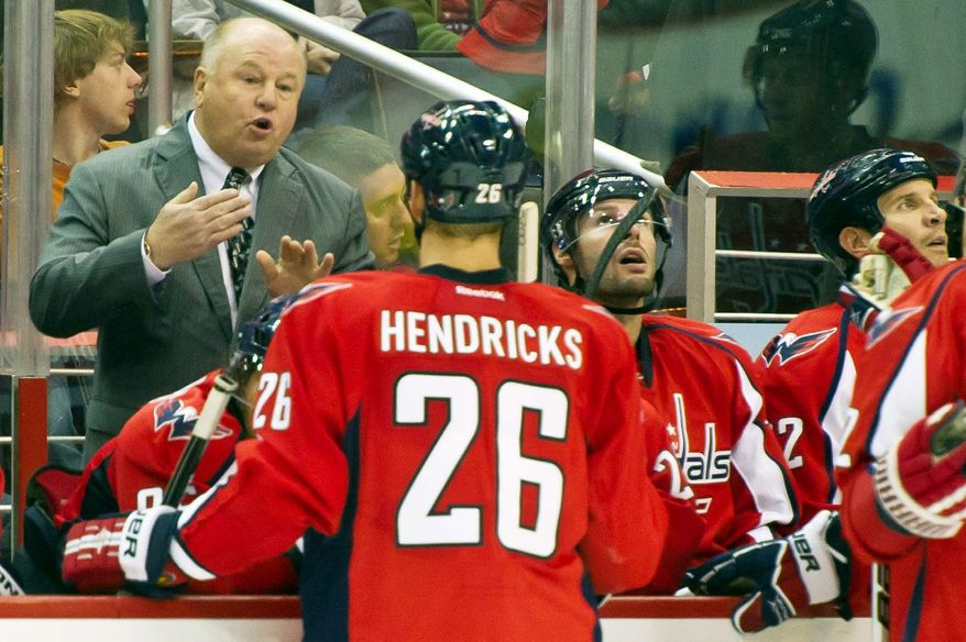 The heat will be turned up on Capitals coach Bruce Boudreau if Washington fails to make a significant playoff run. The Caps failed to get past the second round each of the past two seasons despite being the top seed in the East. (Andrew Harnik/The Washington Times)