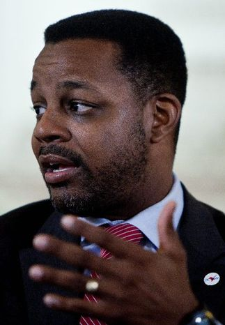 D.C. Council Chairman Kwame R. Brown introduced a bill in April that would increase fines for violating D.C. school residency rules, from $500 to $2,000, and refer cases to the D.C. Office of the Attorney General. (T.J. Kirkpatrick/The Washington Times)