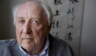 ** FILE ** In this March 31, 2001, file photo, Swedish poet Tomas Transtromer poses for a photograph in his home in Stockholm, Sweden. The 2011 Nobel Prize in literature was awarded Thursday, Oct. 6, 2011, to Transtromer. (AP Photo/Jessica Gow, File)