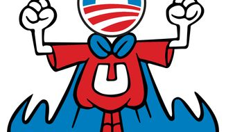 Illustration: Obama the Underdog by Greg Groesch for The Washington Times