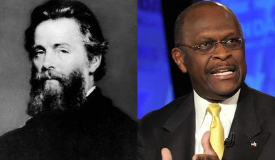 Famous Hermans in history include author Herman Melville and Herman Cain.