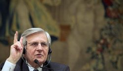 Jean Claude Trichet, president of the European Central Bank, whose position has less direct authority than that of the U.S. Federal Reserve chairman, has had to build consensus among the member nations of the eurozone in the debt crisis. He steps down this month after eight years at the ECB's helm. (Associated Press)