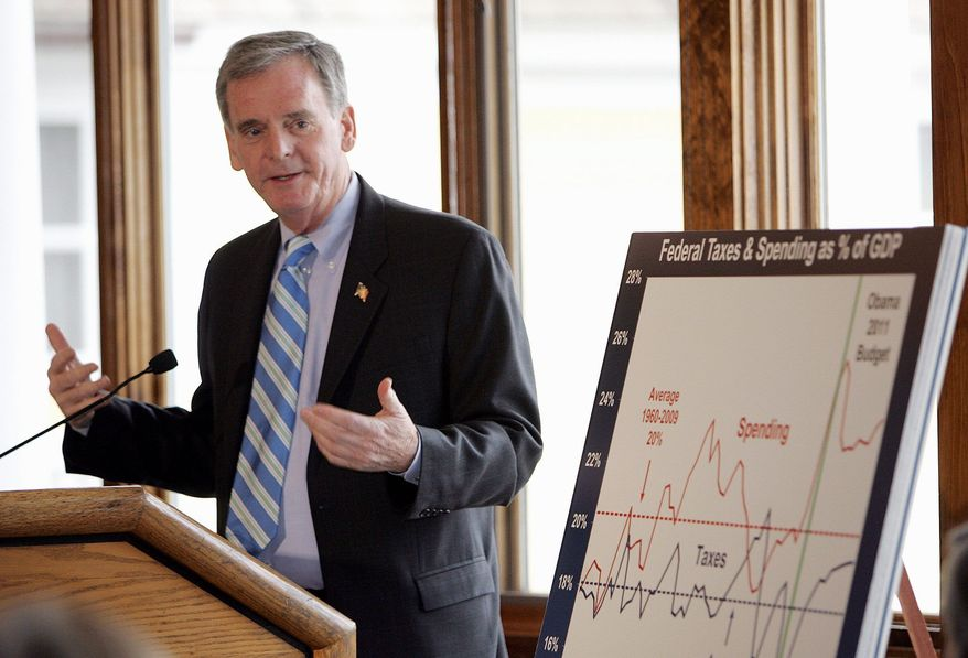 Former Sen. Judd Gregg, New Hampshire Republican, is one of two GOP ex-lawmakers who Monday threw their support behind Mitt Romney, a former governor of neighboring Massachusetts, in his bid for the 2012 Republican presidential nod. (Associated Press)