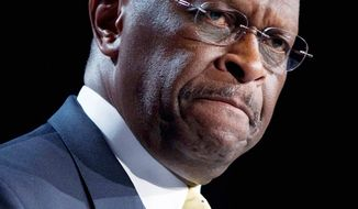 "Herman Cain, who spoke at the Values Voter Summit, dodged the issue of Mitt Romney's religion: ""I am not running for theologian in chief."" (Associated Press)"