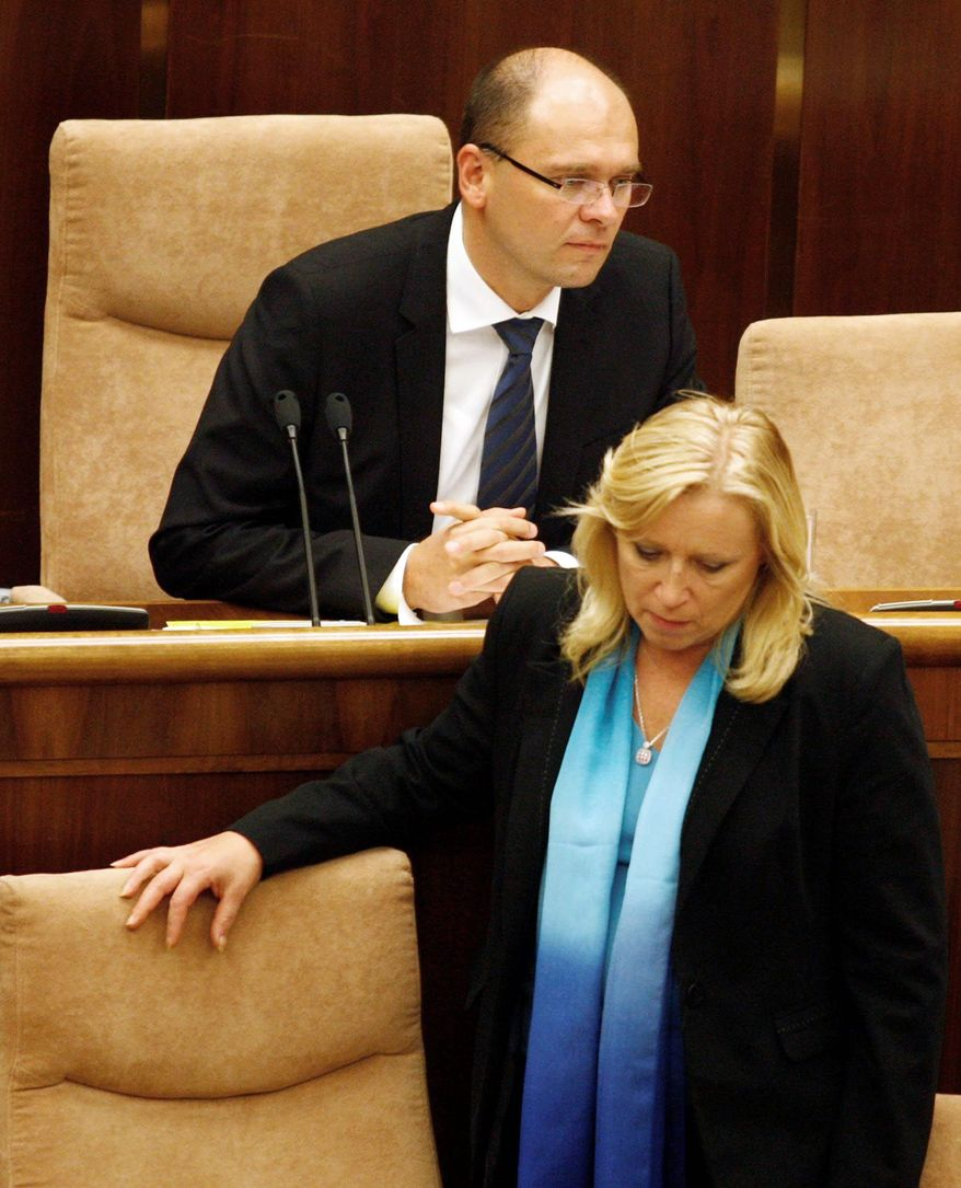 Slovakian lawmakers on Tuesday rejected the expansion of the euro currency zone's bailout fund. Parliament Speaker Richard Sulik led the opposition while Prime Minister Iveta Radicova supported it. Slovakia is the only one of 17 eurozone countries that has not approved expanding the fund. (Associated Press)