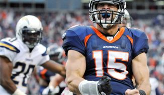 Tim Tebow has been criticized for his mechanics, but there's no questioning the energy he brings to a lackluster Denver offense. (Associated Press)
