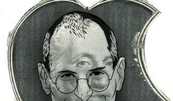 Illustration: Steve Jobs by Linas Garsys for The Washington Times