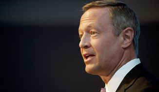 Maryland Gov. Martin O'Malley (Barbara L. Salisbury/The Washington Times)
