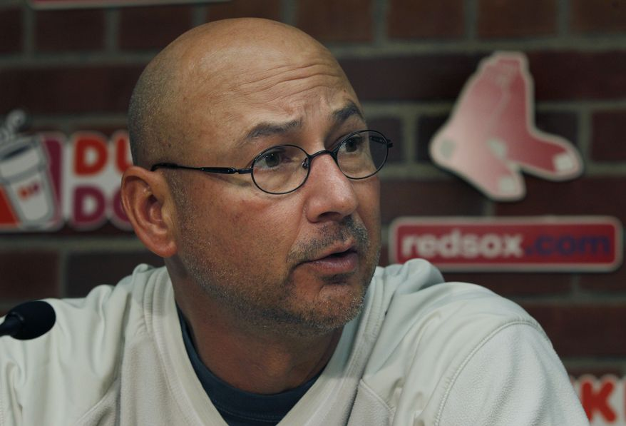 "According to the Boston Globe, team sources ""expressed concern that [Terry] Francona's performance may have been affected by the use of pain medication."" The Globe released a 2,500-word, front-page article reporting on what went wrong during the Red Sox's September collapse. When asked if he was ""distracted,"" Francona told the paper: ""It makes me angry that people say these things because I've busted my (butt) to be the best manager I can be. I wasn't terribly successful this year, but I worked harder and spent more time at the ballpark this year than I ever did."" (AP Photo/Elise Amendola)"
