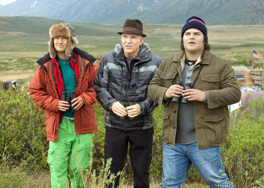 """Owen Wilson, Steve Martin and Jack Black (from left) put aside everything else to travel while they try to spot the most number of bird species in a year in """"The Big Year."""" The film is based on the book by Mark Obmascik. (Twentieth Century Fox via Associated Press)"""
