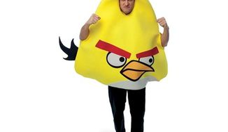 "Forget a President Obama mask. Angry Birds costumes are the most ""sought after"" Halloween look of 2011, says online retailer Buy.com. (Image from Buy.com)"