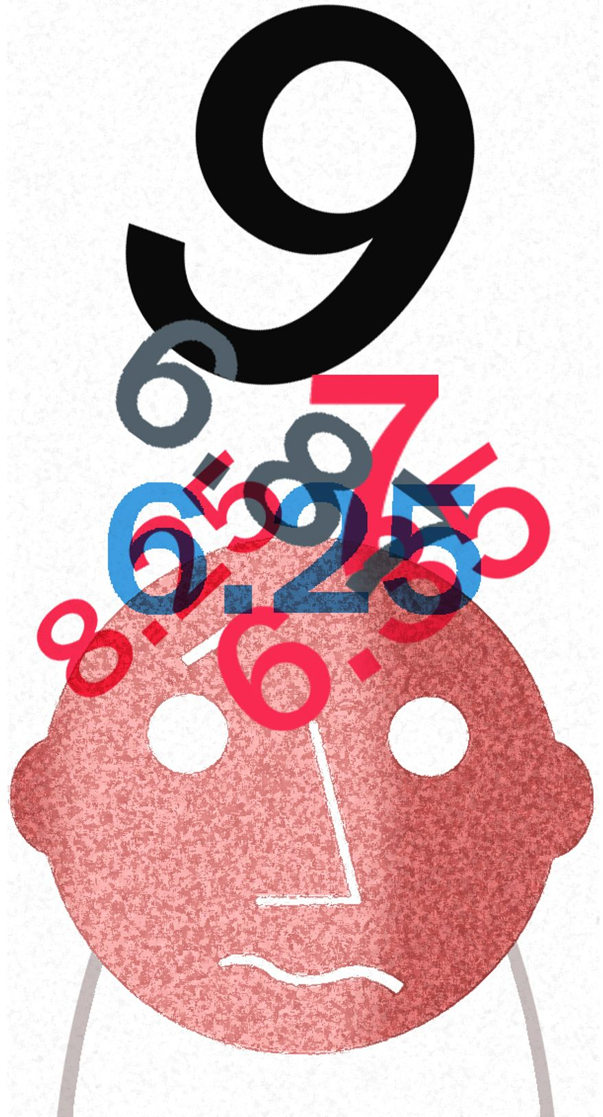 Illustration: Cain's 9-9-9 plan by Alexander Hunter for The Washington Times
