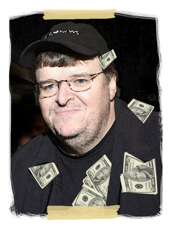 Illustration: Michael Moore by John Camejo for The Washington Times