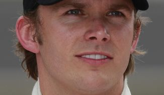 IndyCar driver Dan Wheldon died Sunday, Oct. 16, 2011 in a fiery 15-car wreck during the Las Vegas Indy 300. (AP Photo/Dave Parker, File)
