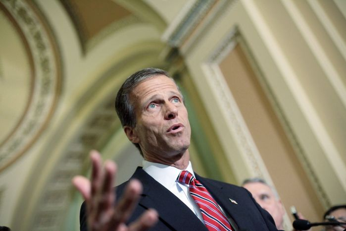 ** FILE ** Sen. John Thune, South Dakota Republican (Associated Press)