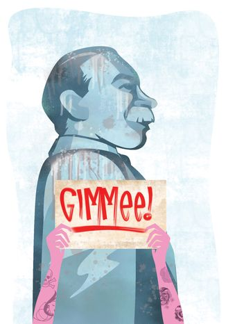 Illustration: Gimmee by Linas Garsys for The Washington Times